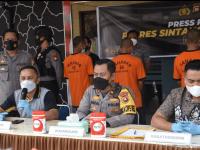 Gelar Press Relese, Polres Sintang Bongkar Hasil Pengungkapan Kasus Curanmor dan PETI