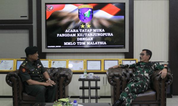 Tingkatkan Kerja Sama, Pangdam XII/Tpr Terima Kunjungan Silaturahmi MMLO TDM
