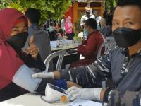 Serbuan Vaksin Dosis 2 TNI AL / STTAL di Masyarakat Maritim Geluran Taman Sidoarjo