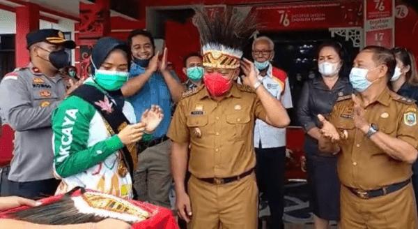 Kedatangan Perolehan Medali Emas PON XX Papua Disambut Bupati Sanggau