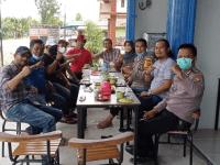 Sukseskan Vaksinasi, IPTU Joni Kapolsek Sungai Kunyit Menjadi Narasumber Dalam Diskusi Bersama DPD BPM