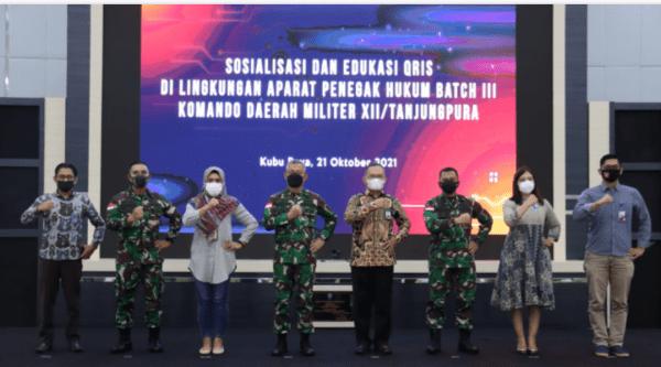 Kerjasama dengan BI Kalbar, Kodam XII/Tpr Sosialisasikan QRIS Kepada Prajurit