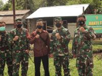 Tim Wasev Pusterad Tinjau Program Bakti TNI 2021 di Wilayah Kodim 1201/Mph