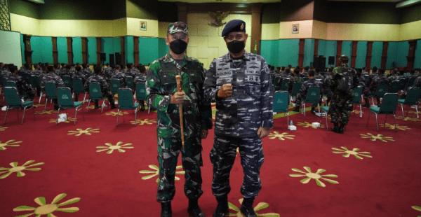 Korem 061/Sk Terima Dukungan 110 Nakes Puskes TNI AL dan 88 Relawan Menwa Kejar Target Vaksinasi Khusus Pelosok Kabupaten Bogor