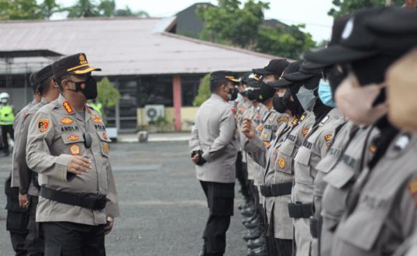 Polresta Pontianak Kota Gelar Apel Kekuatan Guna Antisipasi Gangguan Kamtibmas di SPN Polda Kalbar
