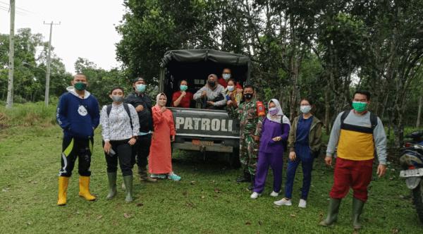 Masyarakat Binaan Laksanakan Gebyar Vaksinasi, Koramil Toho Bantu Mobilisasi