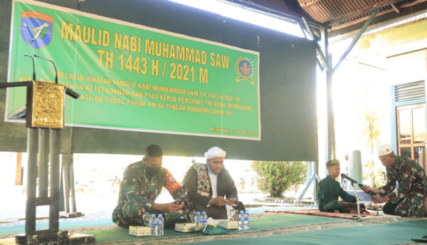 Kodim Mempawah Peringati Maulid Nabi Muhammad Saw 1443 H/2021 M