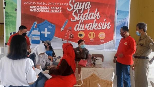 1000 Dosis Vaksinasi Untuk Pelajar BINDA Kalbar Gandeng PDKS