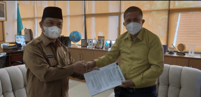 Bicara Investasi, Ketua DPD LKPN Kalbar Temui Wagub H.Ria Norsan