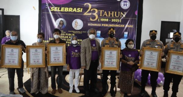 Kombes Pol Wahyu Sri Bintoro Diberikan Penghargaan Dari Komisi Nasional Perlindungan Anak